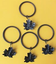 13 x MAPLE LEAF RUSTIC METAL CURTAIN RINGS. CLIP ON.