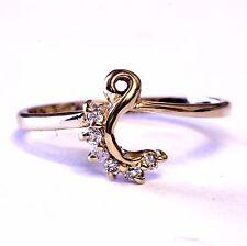 14k yellow gold diamond VS1 H .09ct engagement ring wrap guard wedding band 1.8g