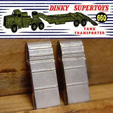 DINKY TOYS NO.660 ANTAR TANK TRANSPORTER REAR RAMPS,  5 PAIRS (10 RAMPS)