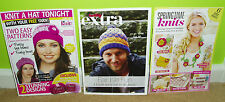 3 knitting leaflets for hats and other accesories - NEW