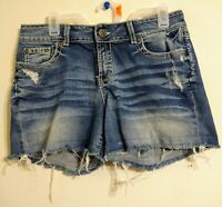 BUCKLE BKE Culture Distressed Stretch Jean Denim Shorts Size 30 Summer Spring