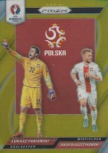 PANINI PRIZM EURO 2016 POLSKA DUO'S FABIANSKI & JAKUB 10/10 PRIZM RARE