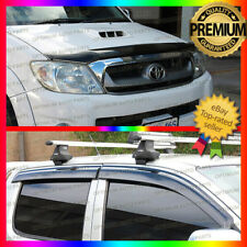 Bonnet Protector & Window Visors Weather Shields to suit Toyota Hilux 2005-2011