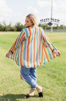 Crazy Train Harvest Colors Kimono - Serape - One Size