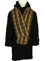 Saxon Boys Black Duffle Jacket Kids Designer Over Coats * Free Scarf Included *