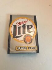 Miller Lite Playing Cards. Sealed New Old Stock Poker Size Hoyle brand