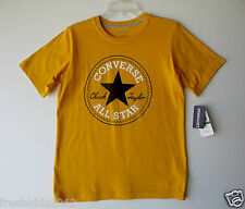"""Converse Chuck Taylor Boys Graphic """"All Star"""" Yellow Tee size Large NWT B5521"""