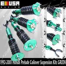 1992-2001 Honda Prelude Full Coilover Suspension Lowering Kits Non Damper GREEN