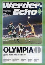 BL 86/87 SV Werder Bremen - Fortuna Düsseldorf, 28.11.1986