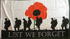 Lest We Forget 5x3 Flag History Army School Remembrance Armed Forces Day WW1 WW2