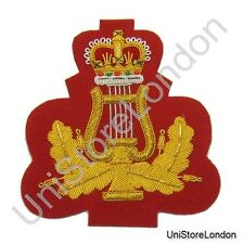 Band Master Arm Badge Band Lyre and Crown 3'' R607