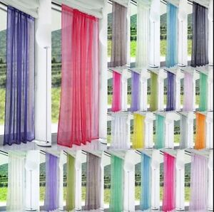 Solid Color Floral Tulle Voile Window Curtain Drape Panel Sheer Scarf Divider BY
