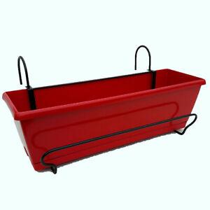 Support + Jardinière isiPop Rouge 50 cm avec feutre et soucoupe