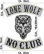 Lone Wolf No Club Rückenpatch, Aufnäher