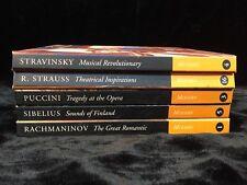 Classic Composers CD & Biography MODERN Stravinski R.Strauss Puccini Sibelius Ra