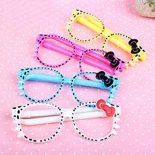 Kawaii 2Pcs/set Bowknot Glasses Ballpoint Pen Kids Office School Stationery New