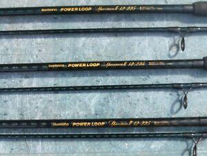 shimano powerloop specimen II 12-225 12ft 2.25tc rods x3 . ( please read )