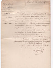 French Minister of the Navy DE CHABROL - 1827 AUTOGRAPH DOCUMENT SIGNED