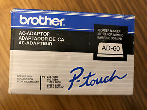 Brother AD-60 AC Adapter for Brother P-Touch Electronic Label Makers 120V - 9.5V