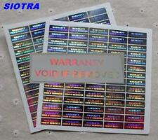 70 x Warranty Void If Removed Hologram Tamper Proof Security Sticker Silver