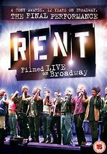 Rent Filmed Live On Broadway The Final Performance Region 4 New DVD