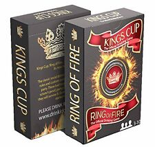 Students Drinking Game Party Ring Of Fire Kings Cup Card Gift Fun Waterproof