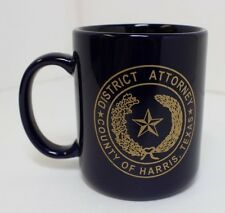 DA DISTRICT ATTORNEY HARRIS COUNTY HOUSTON COFFEE CUP MUG NAVY GOLD