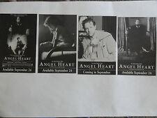 "4 ANGEL HEART OVERSIZED POSTCARDS  8.5"" X 5.5"" VHS RELEASE 1989 RARE UNIQUE"