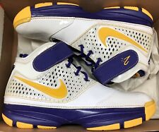2007 Nike Zoom Kobe II 2 White Maize Yellow Purple Lakers Carpe Diem USA Sz 9.5