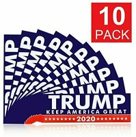 10Pack Donald Trump  President 2020 Bumper Sticker Keep Make America Great Decal