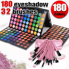 Oz Cosmetic 180 Color Eyeshadow Palette Matte Shimmer 32pcs Makeup Brush Set