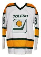 Any Name Number Size Toledo Goaldiggers Retro Custom Hockey Jersey White