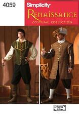 Simplicity SEWING PATTERN 4059 Mens Renaissance Costumes XS-XL