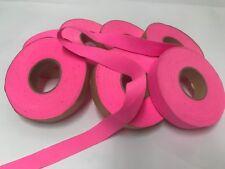 Bulk 7 rolls (490g) Hot Pink COTTON FLAT NON FOLDED BIAS BINDING TAPE 19mm