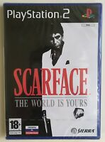 Scarface The World is Yours (PlayStation 2) Factory Sealed Rare Sony Strip NEW
