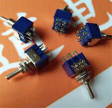 5X MTS-203 Latch Miniatur Kippschalter 125VAC 6A ON-OFF-ON 3 Positionen 2018