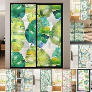 Blesiya Floral Static Cling Stained Window Film Sticker Glass Privacy Decor