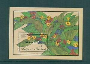 Barbuda 1986 Flowers Dozakies Minisheet  SG MS908a MNH