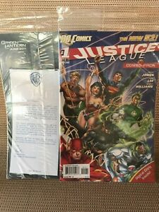 JUSTICE LEAGUE New 52 #1 Time-Warner Combo Pack Variant : rare 2011 Flash Cyborg