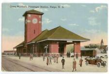 c1910 Fargo North Dakota Great Northern Railroad Passenger Station