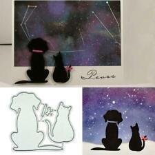 Dog Cat Metal Cutting Dies Stencil DIY Scrapbooking Photo Album Paper Card Craft