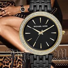 Original Michael Kors Uhr Damenuhr MK3322 Darci  Frabe:Schwarz/Gold Kristall NEU