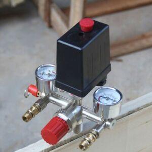 Air Compressor Pressure Control Switch Valve & Gauges 16A 230V Replacement Parts