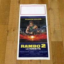 RAMBO 2 LA VENDETTA locandina poster First Blood Part II Sylvester Stallone AG72