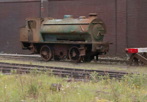Scrapyard BR J94 Austerity locomotive, heavily rusted and weathered. Ref 4