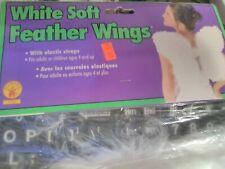 Rubies White Soft Feather Wings With Elastic Straps