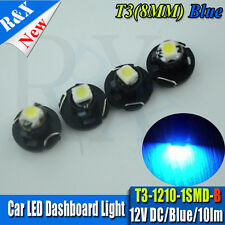 4X 12V T3 neo wedge LED Upgrade Dashboard Speedo Dials Interior Light Bulb BLUE