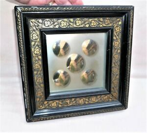 RARE ANTIQUE FRENCH FRAMED WITCHES MIRROR