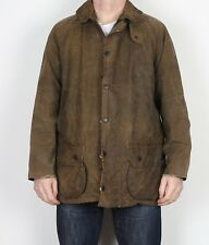 """BARBOUR Moorland Wax Jacket Chest 42"""" Green Medium Large (C4A)"""