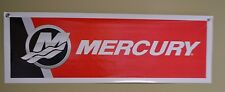 Mercury Red Outboard Marin  Motor Sign Banner Fishing Bass Boat